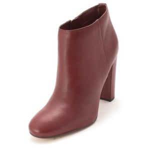 Sam Edelman Leather Mahogany Red Ankle Boots 6